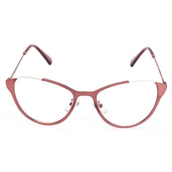 harga Kacamata miopi dengan frame yang terbuat dari setengah logam berdesain kucing betina lucu warna merah Lazada.co.id