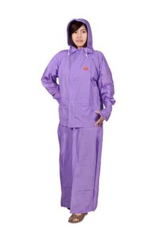 Indoplast Jas Hujan Jaket Rok SHE Purple