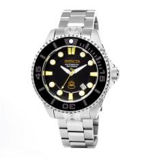Invicta Pro Diver Men Silver Stainless Steel Strap Black Dial Automatic Watch 19797 (Intl)