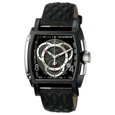 Invicta S1 Rally Men 48mm Case Black Leather Strap Black Dial Quartz Watch 5401 (Intl)