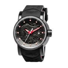 Invicta S1 Rally Men 48mm Case Black, Red Silicone Strap Black Dial Automatic Watch 18213