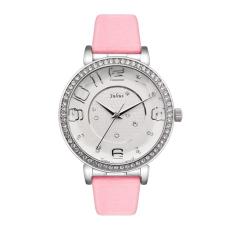 Iokioh 2016 Women's Leather Strap Wrist Watch Women Austrian Rhinestone Watches Fashion Casual Quartz Wristwatch Hot Julius 807 Clocks