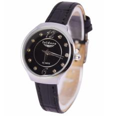 Isidore Jam Tangan Fashion Wanita Water Resistant Leather Strap 8493L - Hitam