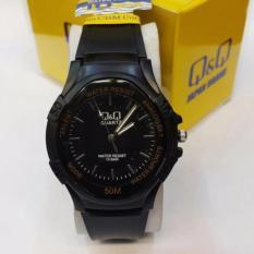 Jam Tangan Casual Pria - Wanita -QnQ ETA1250 - Rubber Strap Black