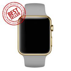 Jam Tangan LED - Jam Tangan Pria dan Wanita - Strap Karet - Abu abu Emas - Apple_Grey_Gold