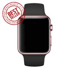 Jam Tangan LED - Jam Tangan Pria dan Wanita - Strap Karet - Hitam Emas Pink - Apple_Black_GoldRose