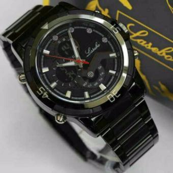 jam tangan pria Lasebo 985 black white