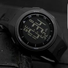 Jam Tangan Pria Sport LED Digital Water Resistance - Hitam