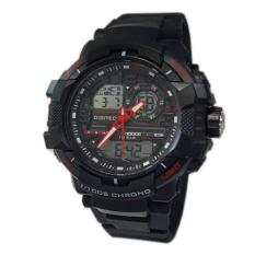 Jam Tangan Pria Sporty - Digitec DG3021T - List Red