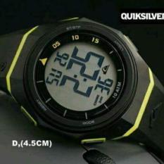 Jam Tangan Pria Wanita QS-885 Fashion Sport LED Digital Water Resistance - Hitam Lis Kuning