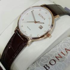 Jam Tangan Wanita - Bonia BN101 - Ring gold - Plat White