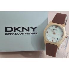 Jam tangan wanita Casual Rubber Strap D.K.N.Y 1109 GR