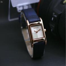 Jam tangan wanita kasual - case rose gold ĢĊ - tali kulit