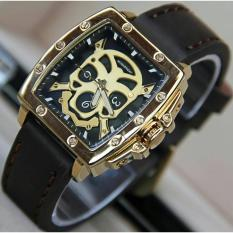 Jam tangan wanita SF Seven ..Friday Coklat tua list gold