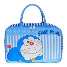 JCF- Tas Anak Fashion Travel Bag Kanvas Kotak Premium - Doraemon