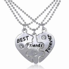Jetting Buy Best Friends Pendant Necklaces Fashion Broken Heart Letters Friendship Necklaces Silver