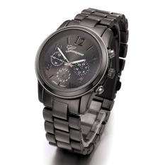 GE Ladies Women Girl Stainless Steel Quartz Wrist Watch 4 Colours (Black)
