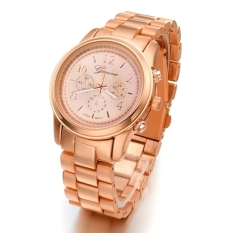 GE Ladies Women Girl Stainless Steel Quartz Wrist Watch 4 Colours (Gold) (Intl)