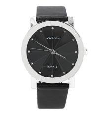 Jo.In Men's Analog Quartz Black Synthetic Leather Strap Sport Quartz Watch (Black)