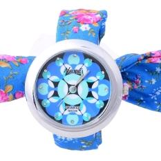 Jo.In Women's Girl Sweet Floral Cloth Fabric Band Lace Up Bracelet Watch Wristwatch Quartz (Multicolor)