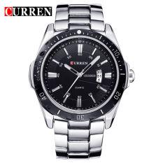 JOOX Curren Date Sport Stainless Steel Men Wrist Watch (Black&Silver)