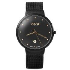 Julius JA - 426 Male Quartz Watch Ultrathin Stainless Steel Mesh BandBLACK (Intl)