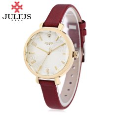 JULIUS JA - 886 Women Quartz Watch Artificial Diamond Dial Solid Mirror 3ATM Wristwatch