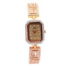 JW Women's Square Fashion Simple Diamond Bracelet Watch Champagne Gold - intl
