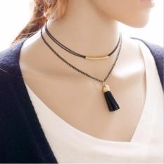 Kalung Wanita Tassel Type 006 - Black Gold