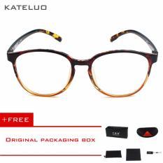 KATELUO retro Eyeswear TR90 anti-Komputer Biru kelelahan laser radiasi-tahan Kacamata Kacamata 9300 (Coklat