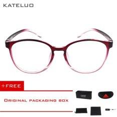KATELUO retro Eyeswear TR90 anti-Komputer Biru kelelahan laser radiasi-tahan Kacamata Kacamata 9300 (Merah