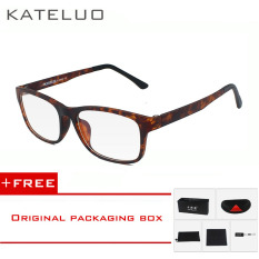 KATELUO TR90 anti-Komputer Biru kelelahan laser radiasi-tahan kacamata kacamata bingkai Oculos di Grau de 9219 (Macan Tutul
