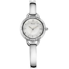Kimio Women Fashion Bracelet Watch Luxury Diamond Quartz Wristwatch (Silver) (Intl)