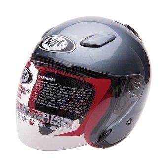 KYT Helm Half Face DJ Maru All Grey