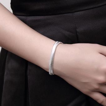 La Vie Perak 925 Jadoku Lembut Gelang Datar (Silver). Rp. 33.000