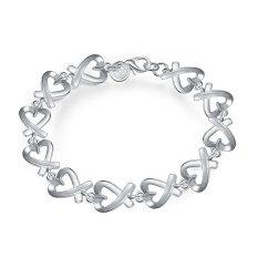 La Vie Sterling Silver All Kelp Chain Bracelet (Silver)