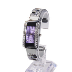 Lady Bracelet Watch Square Diamond Face Strip Hour Mark with Rectangle Dial - intl