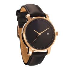 Lady Fashion Simple Strap Watch (Black) - intl
