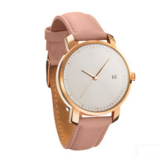Lady Fashion Simple Strap Watch (Pink) - intl