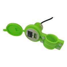 Lanjarjaya USB Charger Motor Waterproof Cas HP di motor - Hijau