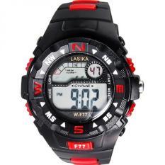 Lasika - Jam Tangan Anak Laki-Laki - Rubber Strap - Hitam Merah - LS F77