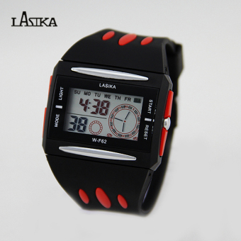 Lasika W-F62 Jam Tangan Sporty Water Resistant Hitam-Merah 8c935f89f2