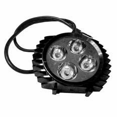 LED Lampu Sorot Tembak Luxeon 4 Mata Slim - Hitam