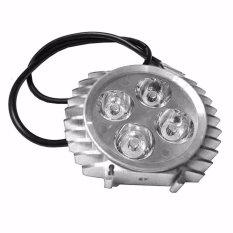 LED Lampu Sorot Tembak Luxeon 4 Mata Slim - Silver