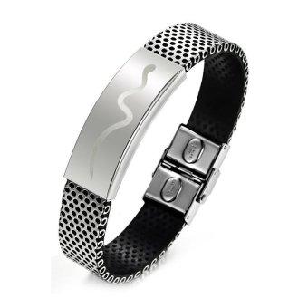 Lemon Stainless Steel With Snake Bracelet (White) - Intl
