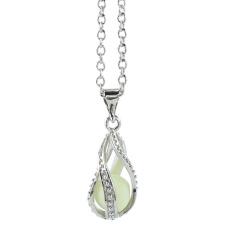 Little Mermaid's Teardrop Glow In The Dark Pendant Necklace Chain Jewelry Gift