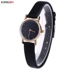 LONGBO 80026L Female Quartz Watch Ultrathin Special Pattern Dial Water Resistance Wristwatch