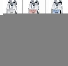 Luxury KIMIO Brand Stainless Steel Watch Women Bracelet Quartz Wristwatch Red (Intl)