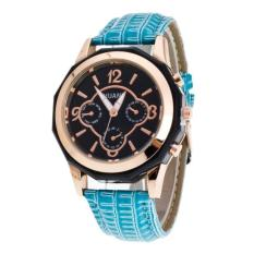 Luxury Brand Women Watches Leather Band Analog Quartz Wrist Watch Blue Free Shipping