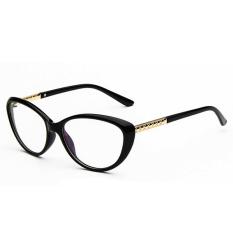 Mata Kucing Elegan Vintage Fashion Wanita Kacamata Bingkai Optik Gaya Kutu H2 004-01 (Hitam)
